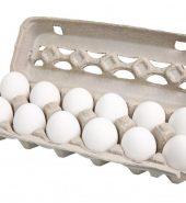 阳光农场白鸡蛋 盒, 12个