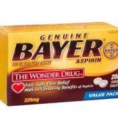 Bayer Aspirin 拜耳阿司匹林肠溶片高剂量200片*325mg