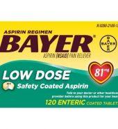 Bayer Aspirin 拜耳阿司匹林肠溶片低剂量120片*81mg