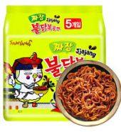 韩国SAMYANG三养 辣鸡面炸酱面 5连包 675g 袋