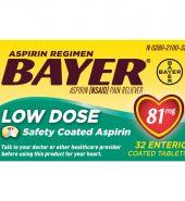 Bayer Aspirin 拜耳阿司匹林肠溶片低剂量32片*81mg
