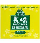 台湾CASA卡萨 长崎蜂蜜绿奶奶茶 250g*10包