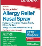 Leader Brand Allergy Relief Nasal Spray 24 hour Relief, 0.54 fl oz (15.8 mL) 24小时抗过敏药喷雾 120喷