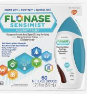 Flonase Sensimist Brand Allergy Relief Spray, 120 Metered Sprays, 0.31 fl oz (9.1 mL) 过敏缓解喷雾剂
