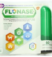 Flonase Brand Fluticasone Propionate Nasal Spray for Allergy Relief, 60 Metered Sprays 0.34 fl oz (9.9 mL) 过敏缓解喷雾, 约60次喷雾
