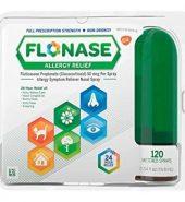 Flonase Brand Allergy Relief Nasal Spray, Fluticasone Propionate, 120 Metered Sprays 0.54 fl oz (15.8 mL) 过敏缓解喷雾, 约120次喷雾