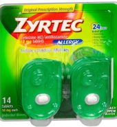 Zyrtec Brand 24 Hour Allergy Relief Tablets 14 Tablets 24小时过敏缓解片