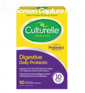 Culturelle Brand Digestive Health Daily Probiotic Capsules, 50 ct 成人版 益生菌 膳食补充 胶囊50粒装