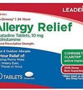 Leader Brand Allergy Relief LORATADINE 10MG, 10 TABLETS 缓解过敏药 10片