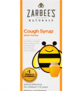 Zarbee's Naturals Brand Children's Cough Syrup with Dark Honey, For Ages 1-12 Yrs, Natural Grape Flavor, 4 fl oz (118mL) 儿童蜂蜜黑糖止咳糖浆,天然葡萄风味
