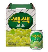 韩国LOTTE乐天 粒粒葡萄汁饮料 238ml*12罐